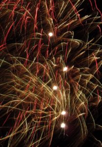 Fireworks over the broads